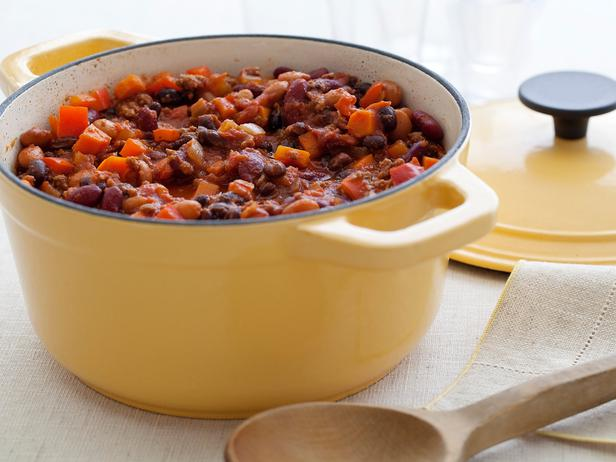 Photo: Three Bean and Beef Chili. Get the recipe here: http://ow.ly/9fmII