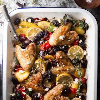 One Sheet Pan Greek Style Easy Baked Chicken Dinner