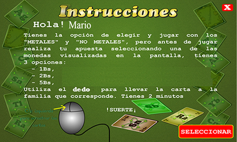 Cartas Quimicas- screenshot
