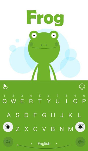 Green Frog Keyboard Theme