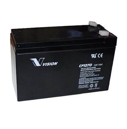 12V, 7,2Ah - Batteri