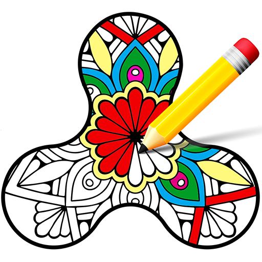 Coloring Book - Fidget Spinner