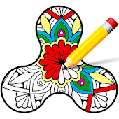 Coloring Book - Fidget Spinner