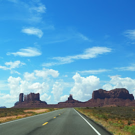 Monument Valley by Benjamin Cobb - Transportation Roads ( landscape photography, monument valley, road trip, rock formations, navajo nation )