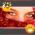 Muslim Woman Clock-Weather icon