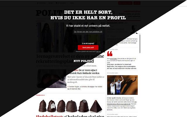 UnAccount for Politiken.dk