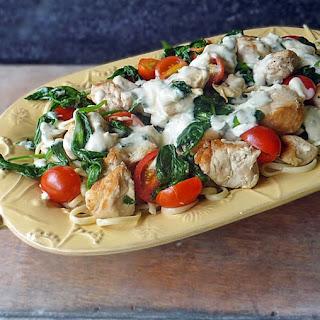 Grilled Chicken Florentine Pasta.