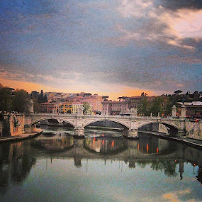 #italy #roma #rome #history #archedbridge #ancient by Axle Ethington - Buildings & Architecture Bridges & Suspended Structures