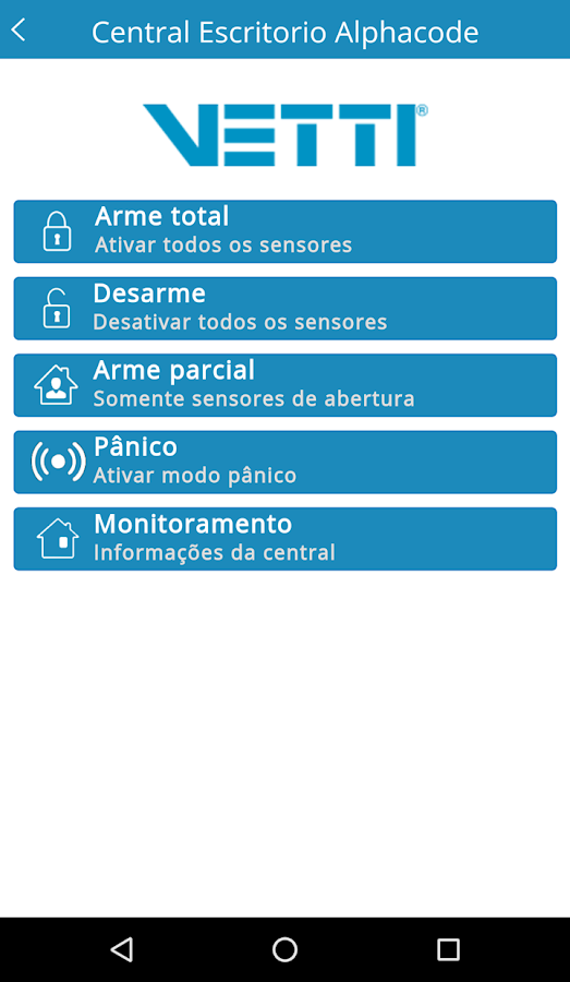 Smart Alarm para Vetti Smart Alarm: captura de tela