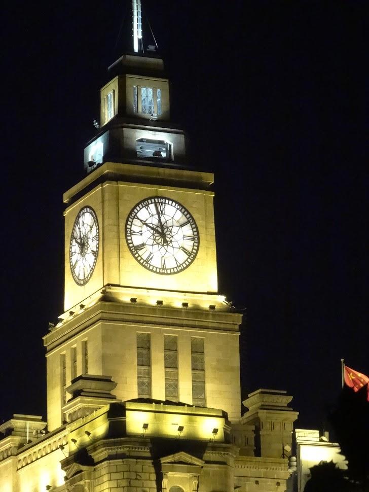 Horloge surnommée Big Ching du Bâtiment des Douanes sur le Bund à Shanghai