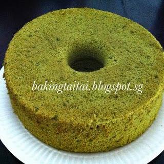 Matcha Chiffon Cake.
