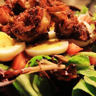 Mixed Green Salad with Crunchy Shrimp & Lemon Vinaigrette Recipe