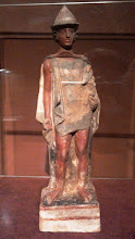 Photo: Boeotian youth holding a ram, terracotta, mid 5th century BC