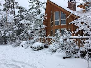 Photo: 【憧れのログハウス】の雪景色