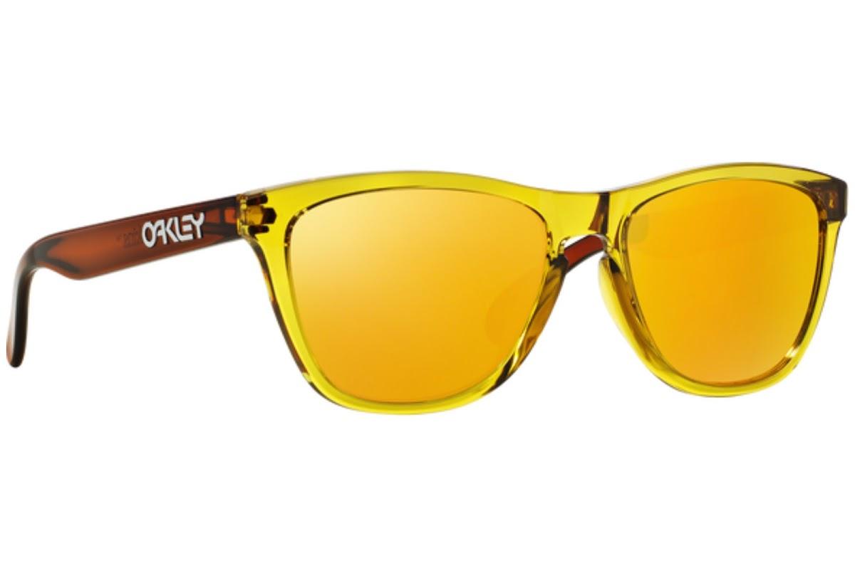 Oakley Herren Sonnenbrille »FROGSKINS OO9013«, orange, 901353 - orange/gelb