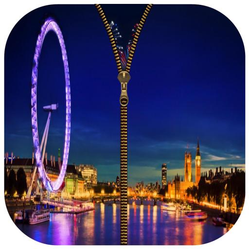 London Eye Zipper Screen Lock