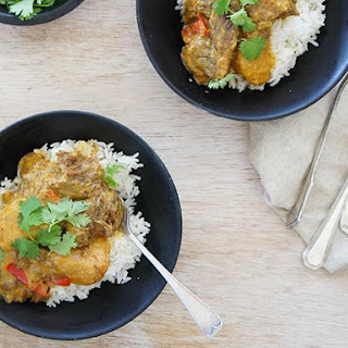 Slow Cooker Yellow Beef Curry.