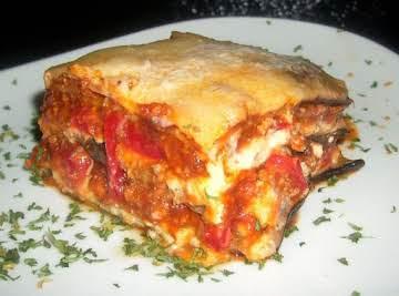 Logan's Low Carb Eggplant Lasagna