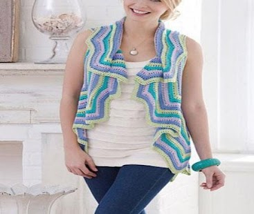 Crochet Pattern Women Vests - náhled