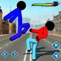 Stickman Street Fighting City Blocky Gangster icon
