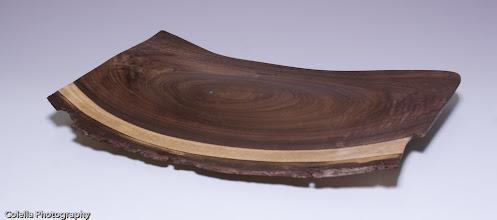 "Photo: Clif Poodry - Platter - walnut - 9"" x 13"""
