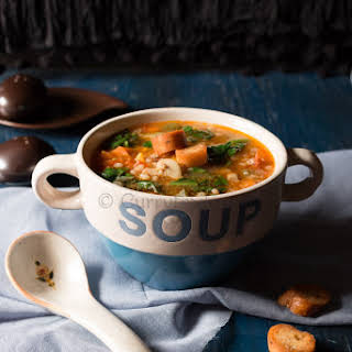 Barley Minestrone Vegetable Soup.