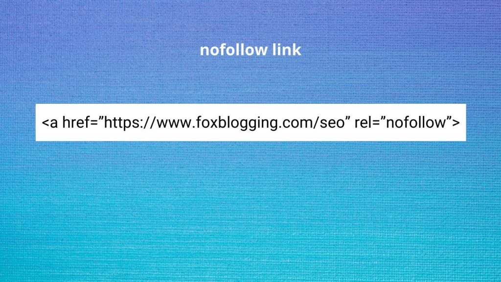 nofollow - internal link example