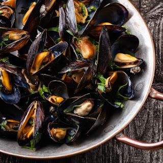 Mediterranean Steamed Mussels.