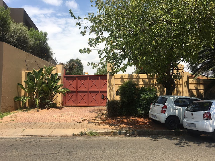 The house in Bedfordview that was raided by the Hawks' as part of an investigation into the Guptas and the Vrede Dairy Farm project on 14 February 2018.