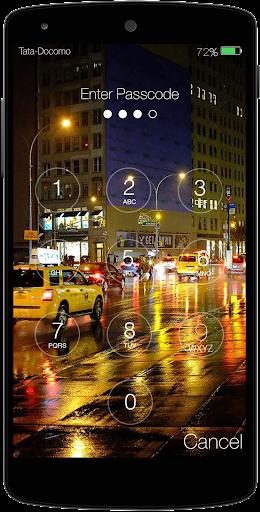 Rainy City Lock Screen