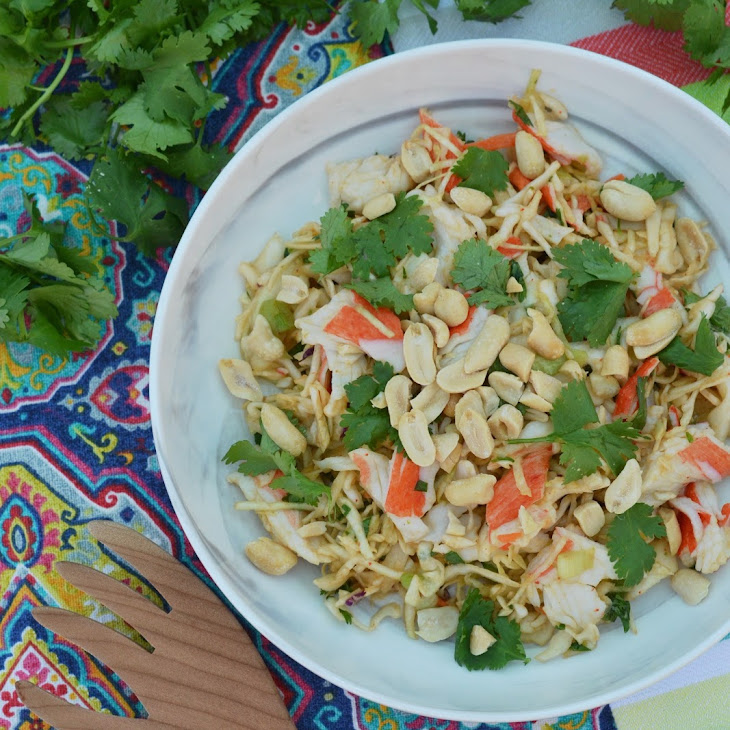 Thai Slaw with Imitation Crab Meat – #FishFridayFoodies Recipe