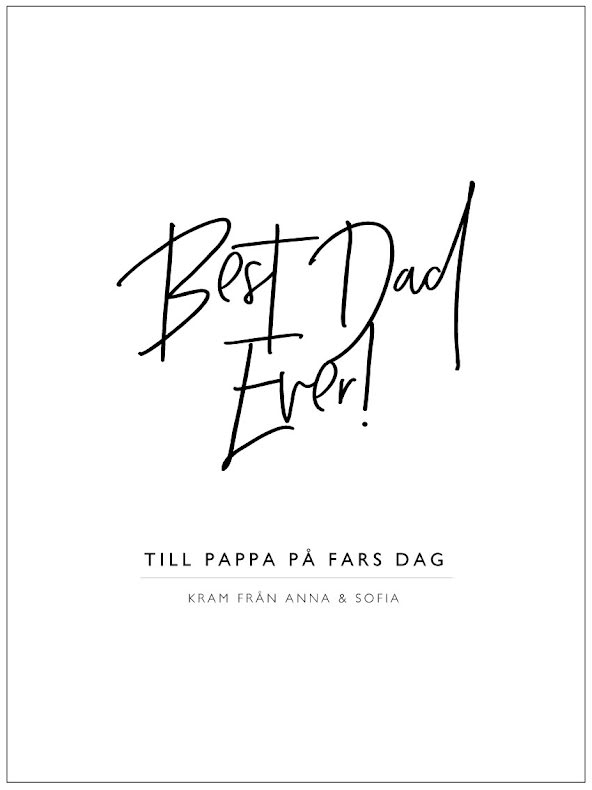 BEST DAD EVER FARS DAG