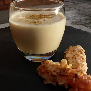 Cream of Cauliflower with Hazelnut Cristed Langoustines