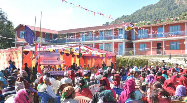 बेलायतबासी नेपालीको सहयोगमा धम्पुसमा विद्यालय भवन निर्माण