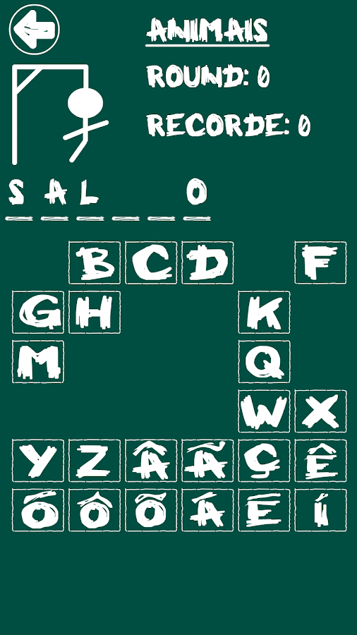 Hangman (Portuguese)- screenshot