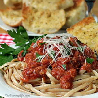 Slow Cooker Ground Turkey Pasta Sauce.