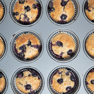 Wacky Blueberry Muffins (Naturally Vegan)