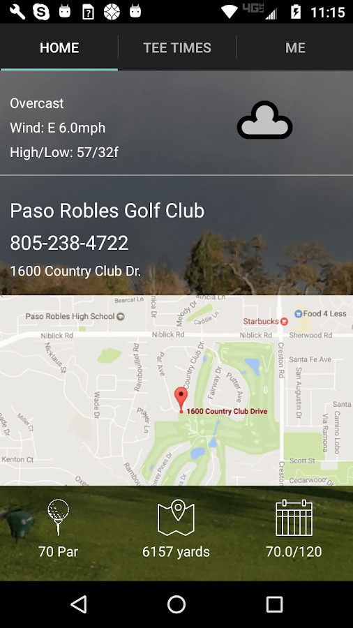 Paso Robles Golf Tee Times- screenshot