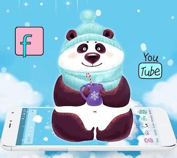 ???Winter Snow Kawaii Panda Theme - náhled