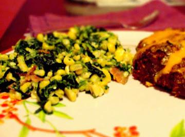 Corn And Spinach Saute Recipe