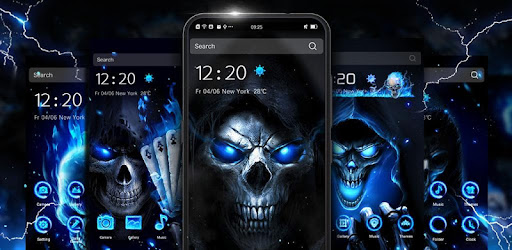 Supreme cool skull launcher with lively HD live wallpapers, themes, icon packs.