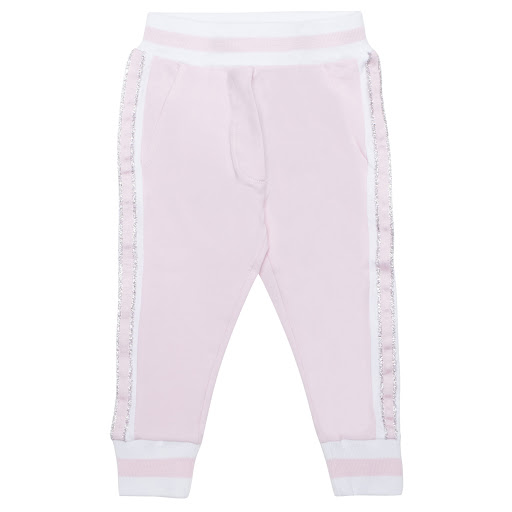 Primary image of Monnalisa Pink & White Sweatpants