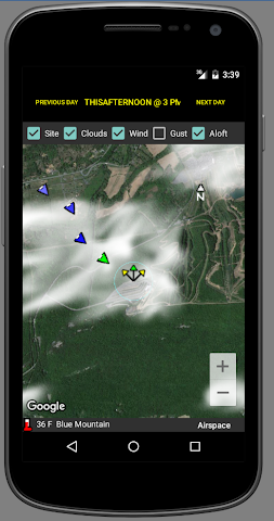 android glider Weather Screenshot 2