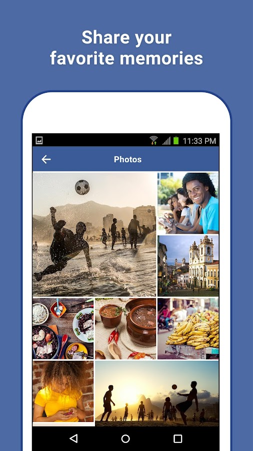 Facebook Lite: screenshot