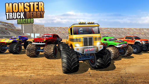 Télécharger Gratuit Fearless Monster Truck Derby Crash Demolition Game apk mod screenshots 5