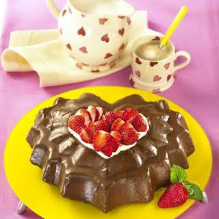 Valentine's Chocolate Almond Cake.