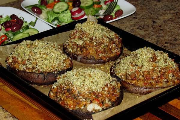 Jo's Chicken Sausage Stuffed Portabello Mushrooms Recipe