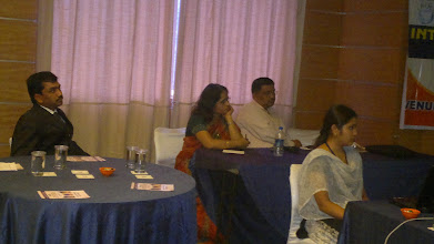 Photo: Mrs&Mr.Tripathi Chairing the sessions