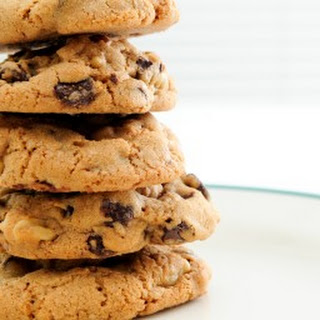Chewy Banana Chocolate Chip Cookies.