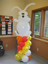 Photo: Plainfield Pet Hospitals Pet Fest included this super fun dog column. All white in honor of Gypsy who stars in their website videos :)